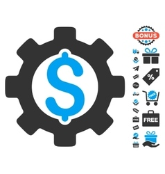 Development cost icon with free bonus vector