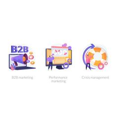 Digital marketing concept metaphors vector