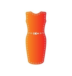 Dress sign Orange applique isolated vector image