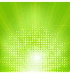 Eco green background with sunburst vector