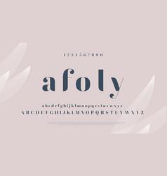 elegant stylish font modern serif typeface vector image