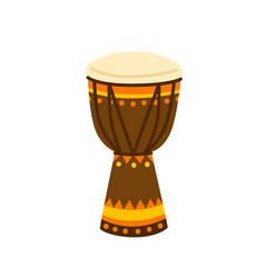 Ethnical colorful drum vector