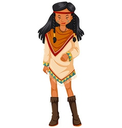 Female native american indians in costume vector