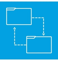 File share thin line icon vector