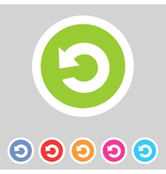 Flat game graphics icon repeat vector