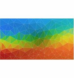 flat triangle multicolor geometric wallpaper vector image