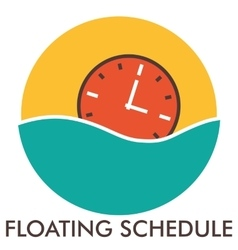 Floating schedule Time Clock Line icon with vector image