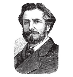 frederic auguste bartholdi vintage vector image