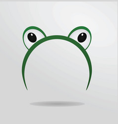 frog eyes mask vector image