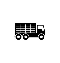 Garbage truck flat icon vector