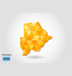 geometric polygonal style map of botswana low vector image