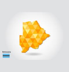 geometric polygonal style map of botswana low vector image