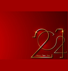 golden 2021 new year logo with copy space vector image