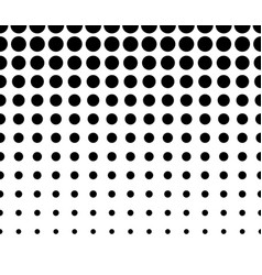 horizontally seamless black and white dotted vector image