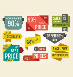 hot prices best discounts vector image