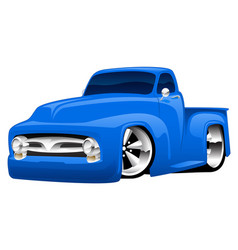 hot rod pickup truck vector image