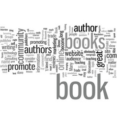 how to promote a book vector image