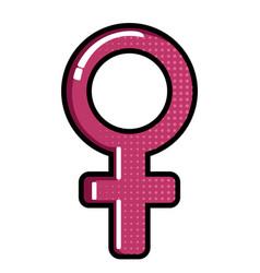 isolated female symbol vector image