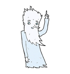 Jack frost comic cartoon vector