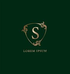 Letter s alphabetic logo design template luxury vector