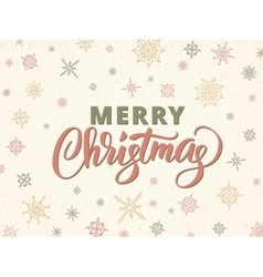 Merry christmas typography against background with vector