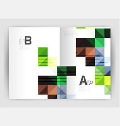 modern minimalistic geometrical square business vector image