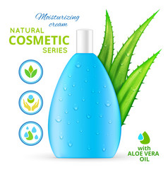 Moisturizing cream natural cosmetics design vector