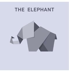 Origami elephant flat style design vector