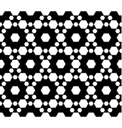 ornamental seamless pattern texture with hexagons vector image