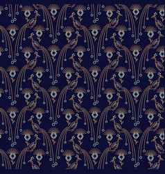 Peacock elegant seamless pattern vector
