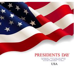 presidents day flag usa vector image
