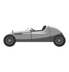 Retro car icon gray monochrome style vector image