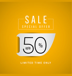 Sale special offer up to 50 limited time only vector