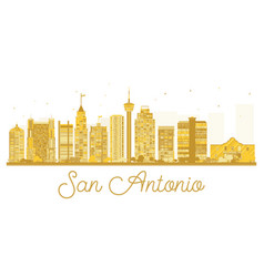 San antonio city skyline golden silhouette vector