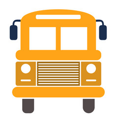 school bus isolated school vector image