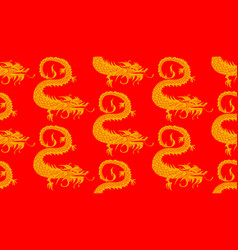 Seamless dragons pattern vector