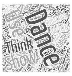 So You Think You can Dance Word Cloud Concept vector