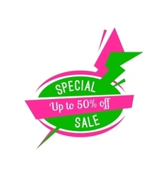 Special offer sale tag discount isolated on white vector image
