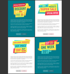 Special sale offer posters vector