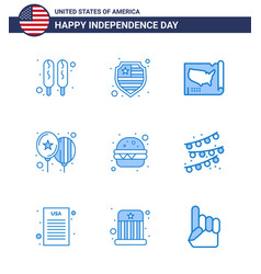 Stock icon pack american day 9 line signs and vector