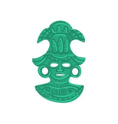 Stone tribal mask maya civilization symbol vector