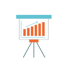 Strategy presentation with statistics bar and vector
