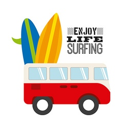 surfing sport vector image