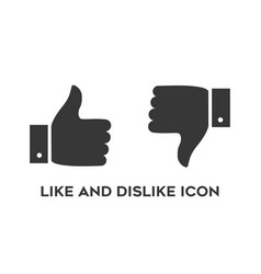 thumb up and down like and dislike social media vector image