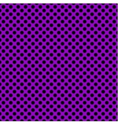 Tile pattern with black polka dots on violet vector