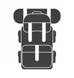 Tourist Backpack Rucksack Icon vector
