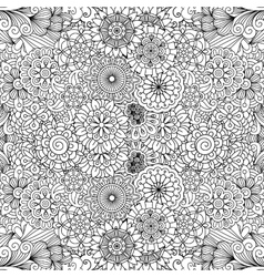 Various floral pinwheel shapes in seamless pattern vector