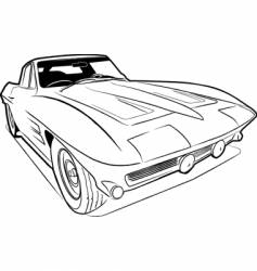 vette sketch vector image