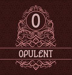 vintage label design template for opulent product vector image