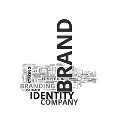 What is brand identity text word cloud concept vector